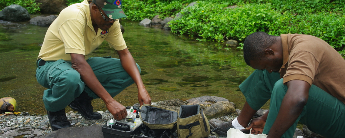 National Park Rangers doing Freshwater Monitoring